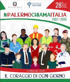 """снимка, """"Да бъдем смели всеки ден""""- това призова проф. Мария Фалконе на 23- ти май -двадесет и осем години от убийството в Капачи, Палермо"""
