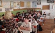 """снимка, Превенция на наркомании със седмокласници от II ОУ """"Димитър Благоев"""""""