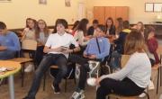 "снимка, ""Урок по музика"" във VII СОУ ""Кузман Шапкарев"" Благоевград"