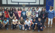 снимка, Церемония по награждаване на спечелилите ученици в конкурса по превенция на наркоманиите за 2017 - 2018 учебна година