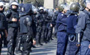 снимка, Полицията задържа футболни фенове с наркотици, ножове, бомбички и маски
