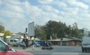 снимка, Кошмарна катастрофа с моторист в Пловдив