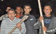 снимка, Цигани нападнаха с брадви и мотики полицията в Гълъбово, жандармерия от Пловдив едва е усмирила тълпата
