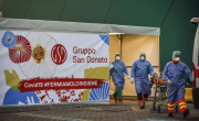 снимка, Italy records smaller increase in virus cases for 2nd day