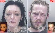 снимка, The drugs DON'T work: Pictures taken just TWO YEARS apart reveal horrific toll of crack cocaine on two dealers in their 30s - as pair are both jailed for nine years