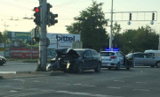 снимка, Пиян водач опита да избяга от полицията и катастрофира в Пловдив