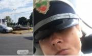 снимка, Проверяват пияната кифла, позирала с фуражка в патрулка