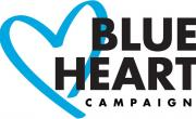 снимка, Отбелязваме Международния ден за борба с трафика на хора. Символът на кампанията е синьо сърце